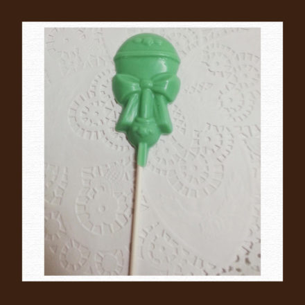 Baby Rattle Shaped Chocolate Lollipop