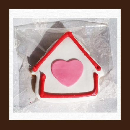 Nut Free House Shaped Sugar Cookie